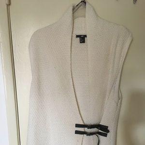 H&M Cream Cotton Cardigan Adjustable LeatherStraps